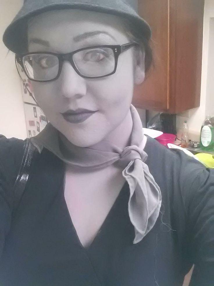 Grey scale makeup