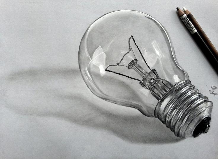 realistic bulb pencil drawing - Google Search
