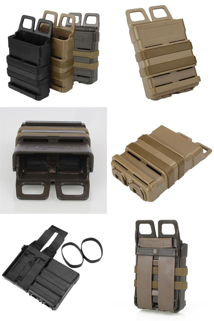 [Visit to Buy] Tactical Fast Mag Attach Belt Magazine Pouch 5.56 Molle Holster Hunting Outdoor Tools #Advertisement