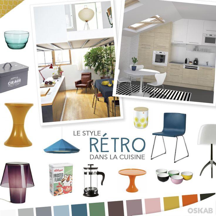 Mod le de cuisine quip e moderne am ricaine cuisine for Cuisine retro design