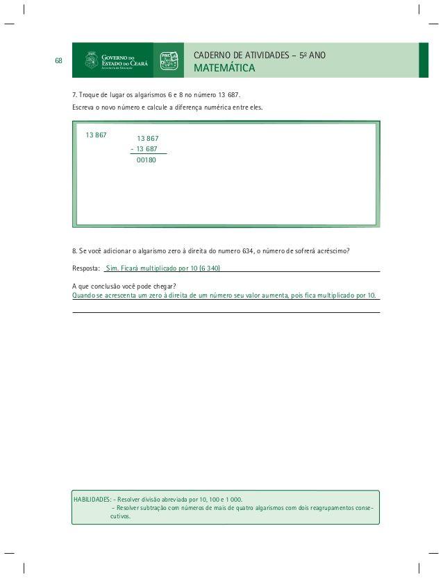 Caderno Do Professor De Matematica Paic Vol I 1º E 2º Bimestre