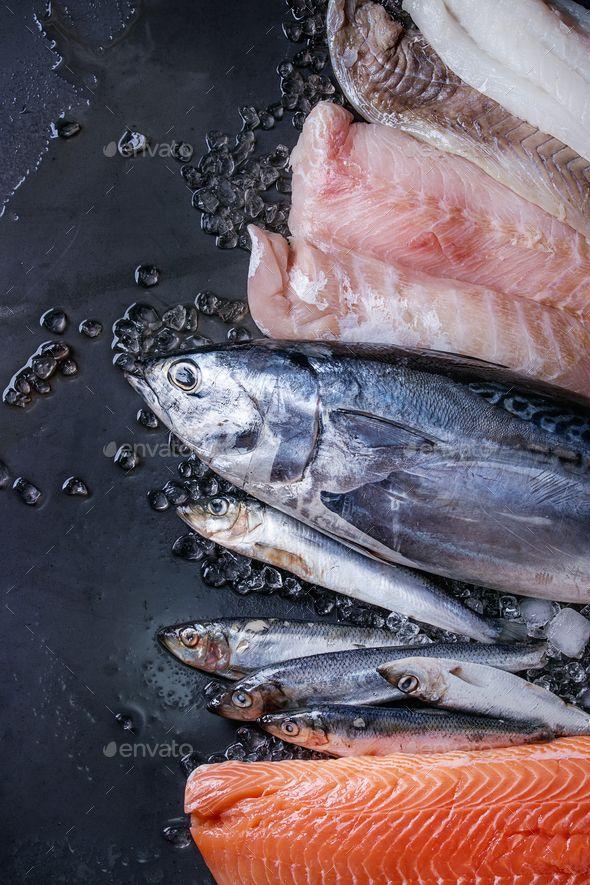 Vatiery Of Raw Fresh Fish Fresh Fish Fish Food Photography Fresh Fish Photography