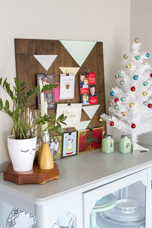 13 Cool Ways to Display Your Christmas Cards via Brit + Co