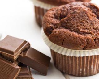Muffins légers au chocolat et fleur de sel