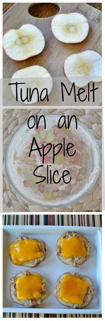 Tuna Melt on Apple Slice