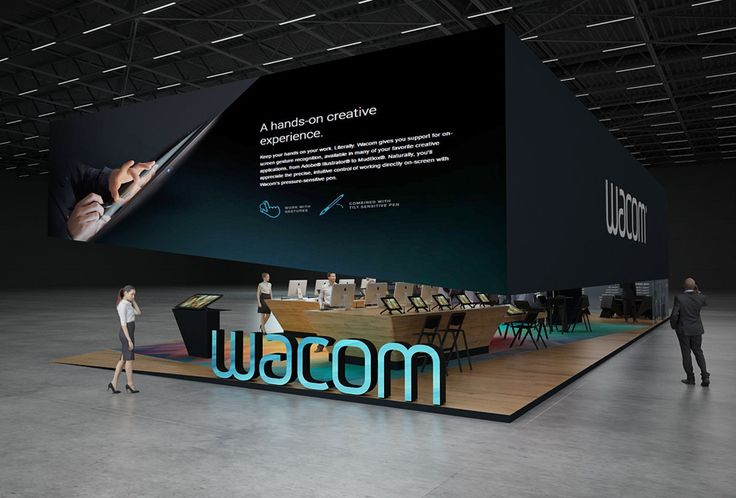 Wacom exhibition stand design | | GM Stand Design