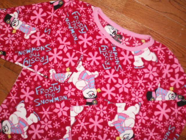 f229c7b69103 GIRLS medium (7-9) FROSTY the SNOWMAN 2pc FLEECE PAJAMAS sleepwear ...
