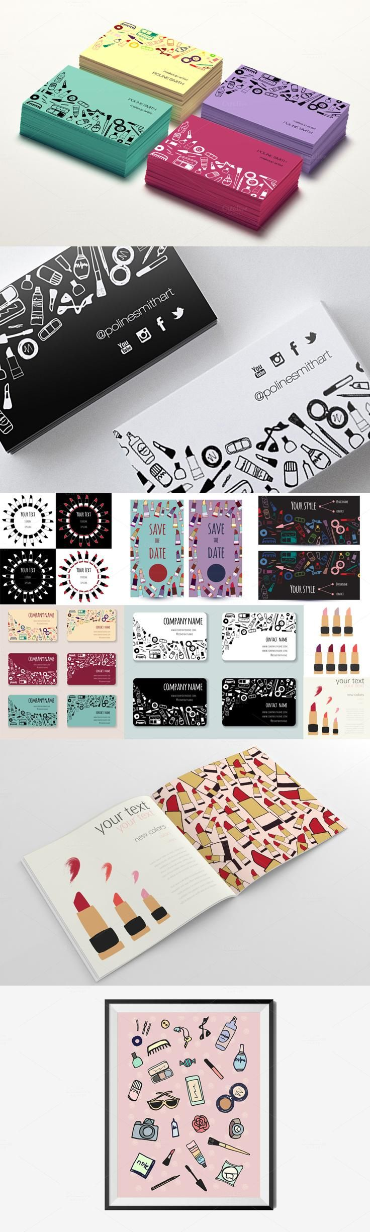 65 best cool business cards images on pinterest identity collection cards with female items magicingreecefo Images