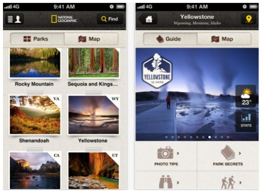 National Geographic launches 'National Parks' iOS app, guides to 20 of the US's most visited parks... National Parks by National Geographic, will let users plan their next park vacation. Whilst the app itself is free, most of the individual guides are available for in-app purchase, covering the likes of Death Valley and Hawaii Volcanoes. You will, however, get the first one for free.: App Store, Ios App, National Geographic, Geographic Hits, 397 National, National Parks, App Pinners, Visited Parks, App Offering