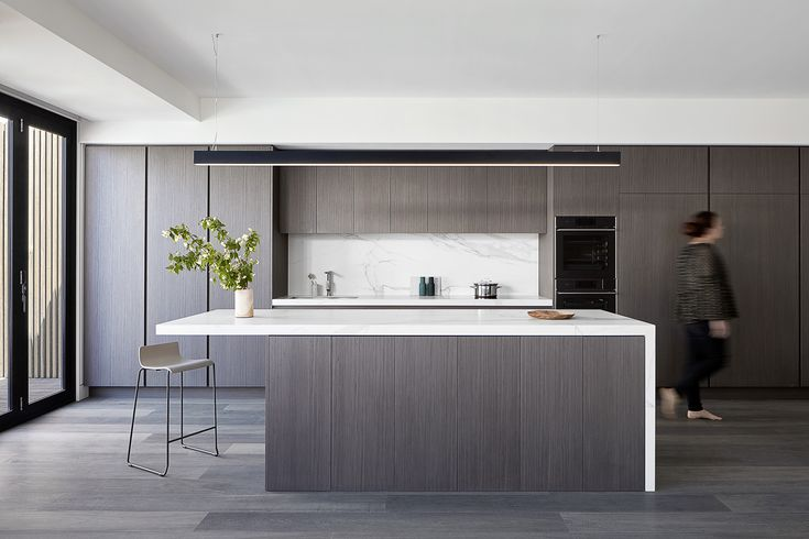 Kitchen at the Power House. Single fronted Victorian extension Williamstown Victoria. Glow Design Group. Photography: Jack Lovel Stylist: Beckie Littler