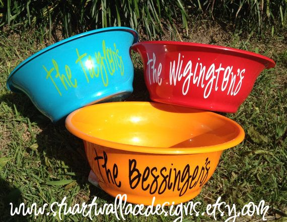 Personalized POPCORN Bowl Christmas Gift by StuartWallaceDesigns, $11.00