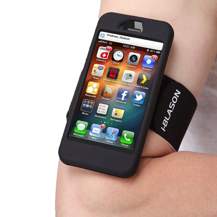 i-BLASON Armband for Apple New iPhone 5S / iPhone 5, Silicone Skin Case, With Bonus Screen Protector- Black. i-Blason (TM) Logo Bearing Armband Case for Apple iPhone 5S / iPhone 5. Designed specifically for Apple iPhone 5S/5 At&T, Spring, T-Mobile and Sprint. Includes Black Silicone Skin for iPhone 5S/5. Includes Custom Made Screen Protector for iPhone 5S/5. Soft Stretchy Velcro Armband that Fits Both Small and Large Arms.