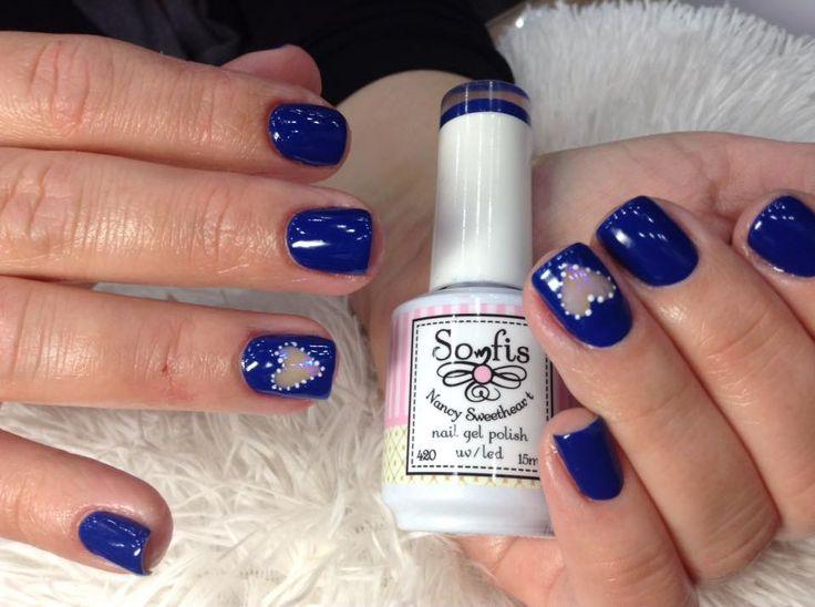 #nails #nailart2016 #bluenails #nailprocare