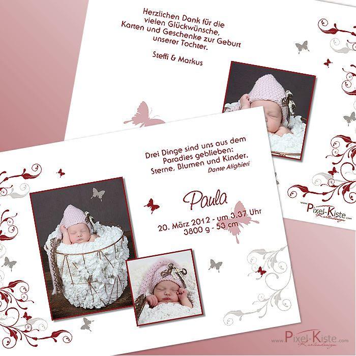 29 besten Geburtsanzeigen Geburtskarten Babykarten Bilder auf ...
