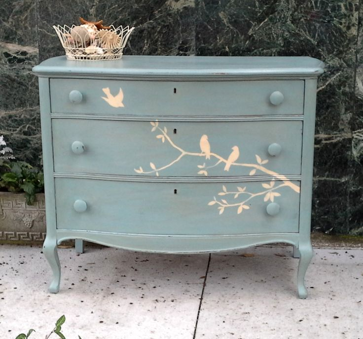 1000 Ideas About Blue Painted Furniture On Pinterest Blue Nightstands Mil
