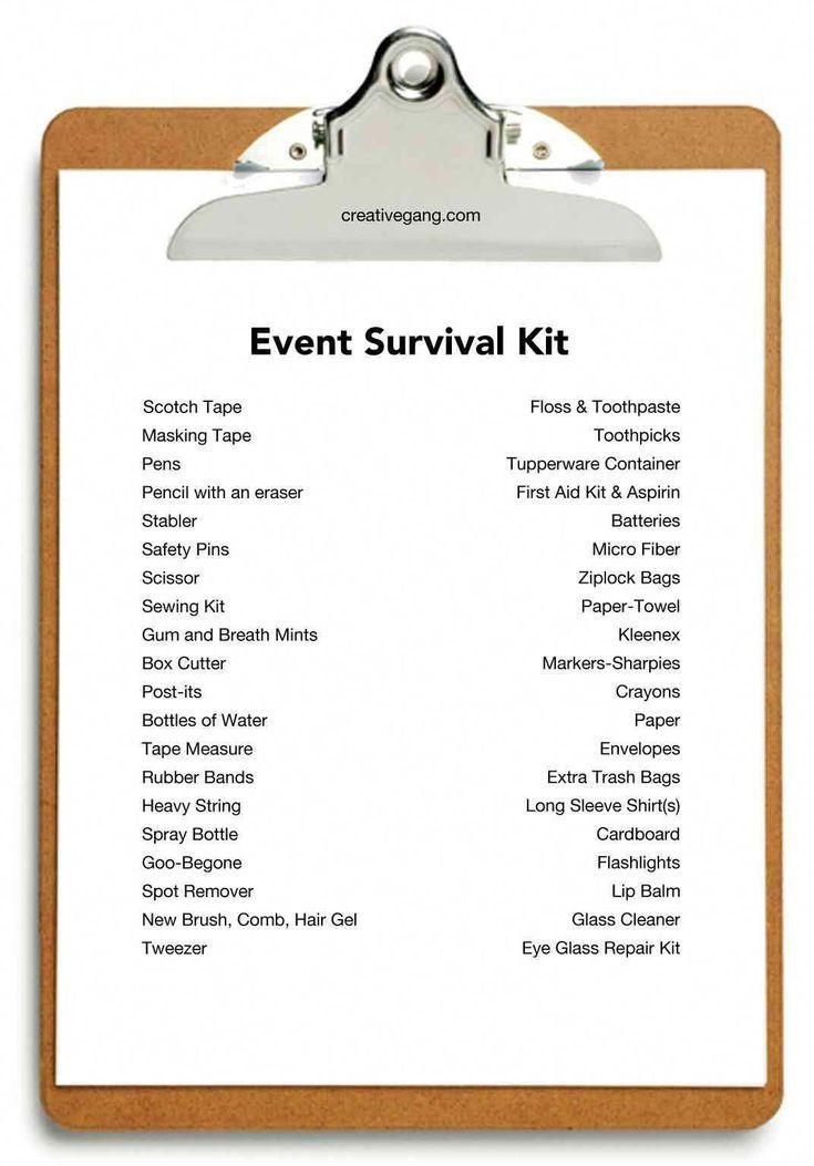 event checklist More #eventcoordinator