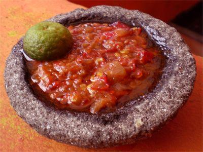 Aubergine Sauce   (Sambal Terong)           Yield: 6 servings     Ingredients     -  2 sm Aubergines   -  1 lg Spanish onion ...