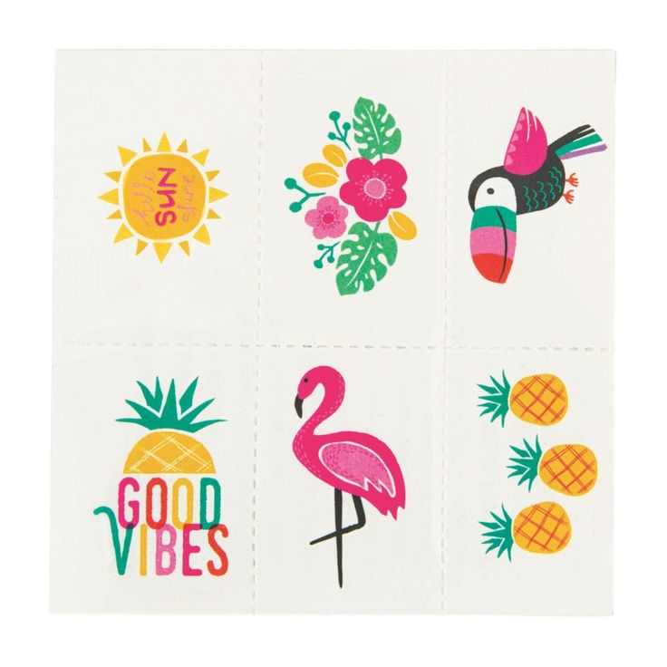 Luau Tropical Temporary Tattoos   – Products