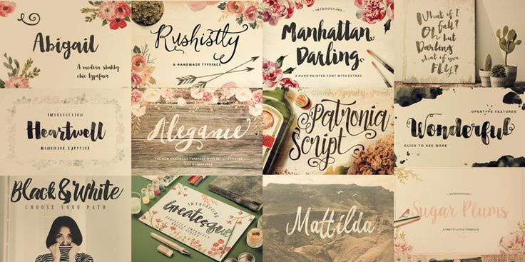 52 Brush Script Fonts - Some Free