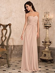 Sheath/Column Sweetheart Floor-length Chiffon Evening Dress ... – USD $ 92.99