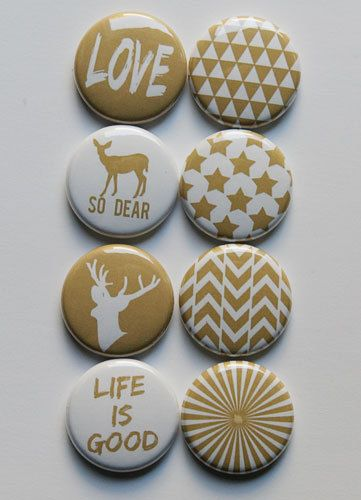 Gold 2 Flair by aflairforbuttons on Etsy, $6.00 #flair #aflairforbuttons #goldflair