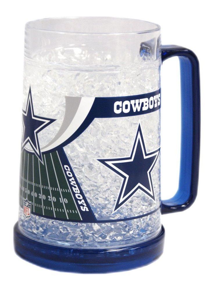 Dallas cowboys 16oz crystal freezer mug dallas cowboys