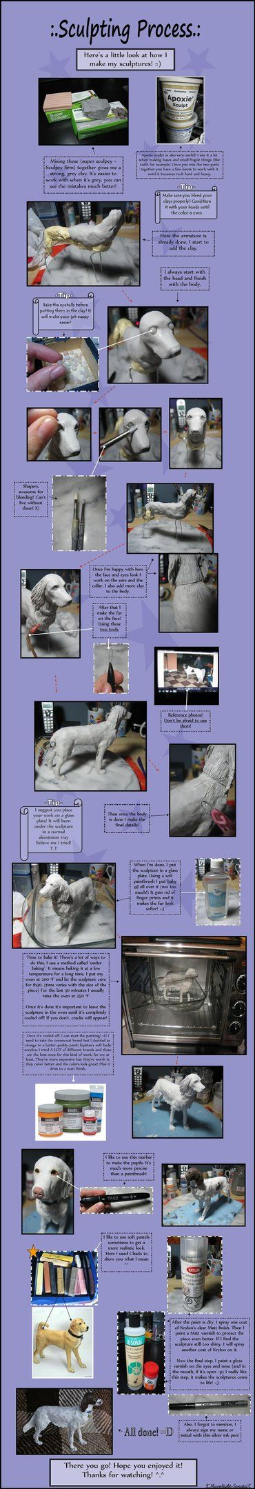 Finalllly! Took me forever! X) My very first 'tutorial'. It's the process I go through with every sculpture, along with some tips. Hope it's not too confusing or anything! Let me know what you thin...