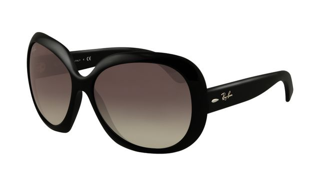 Ray Ban RB4098 Jackie Ohh II Sunglasses Shiny Black Frame Grey G