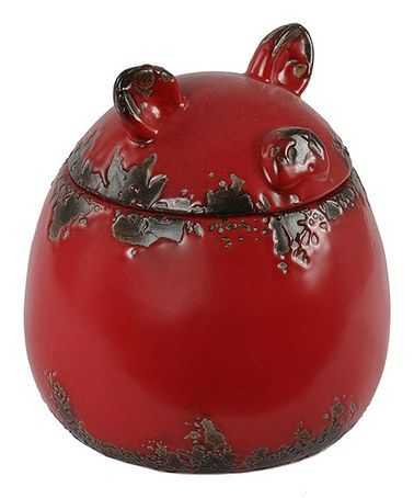 Red Pig Ceramic Jar by Privilege