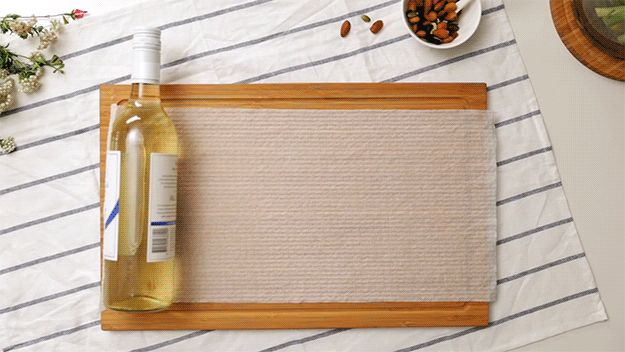For speedy chilled drinks, wrap the bottle in a damp paper towel and chuck it in the freezer for 15–20 minutes.