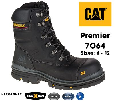 7064 Premier Black Safety Boot
