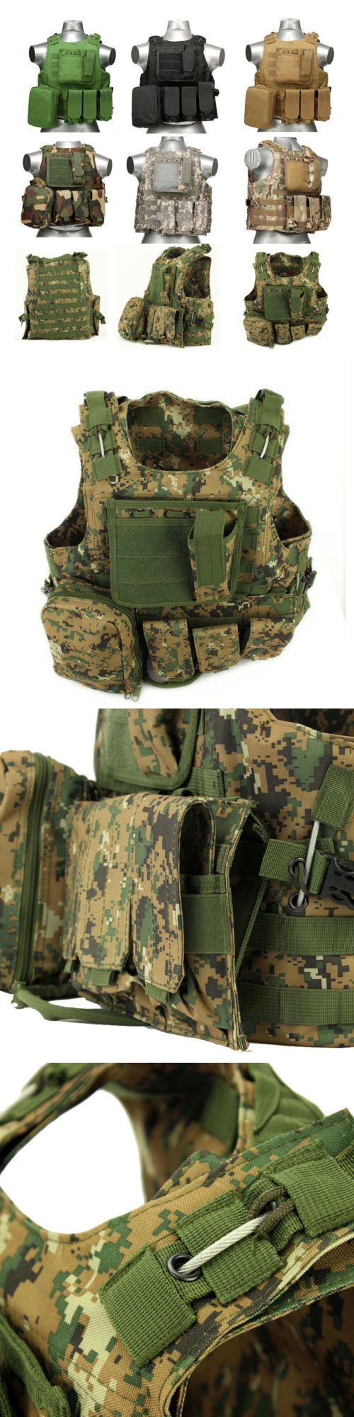 Chest Rigs and Tactical Vests 177891: Usmc Camouflag Vest Airsoft Tactical Military Molle Combat Assault Plate Carrier -> BUY IT NOW ONLY: $38.99 on eBay!