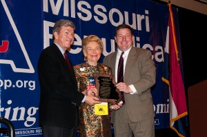 Phyllis Schlafly receives Lifetime Achievement Award from Missouri GOP., Feb. 15, 2013