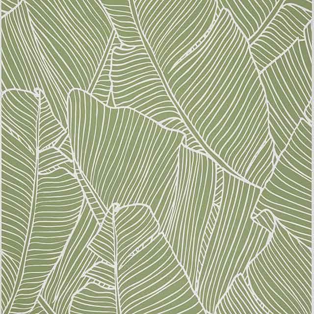 Papier peint vinyle sur intissé Vert Bananier - CASTORAMA