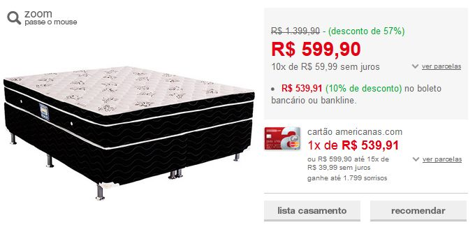 Cama Box Queen (Box + Colchão) Ortobom Physical Spring Black Molas Nanolastic >                                                                                                                                                                                 Mais