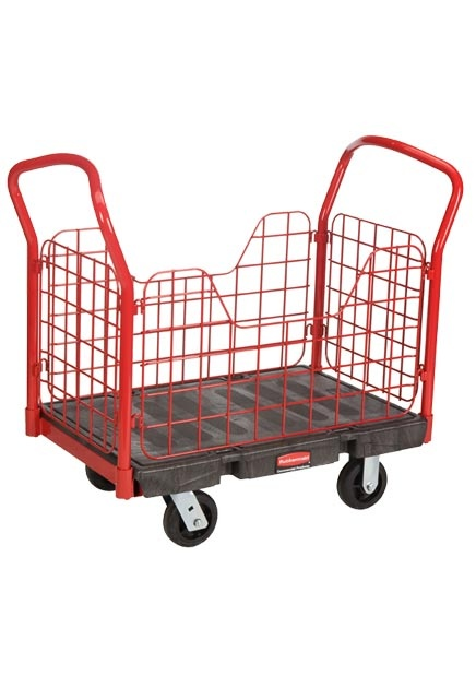 """Side Panel Handling Truck 24"""" X 36"""" 1,000 lb: Working cart 24"""" X 36"""" with side panel cut outs havnig a 1,000 lb"""