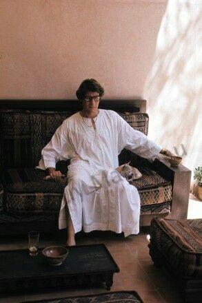 Yves Saint Laurent à Marrakech en Juillet 1978. Photo Guy Marineau