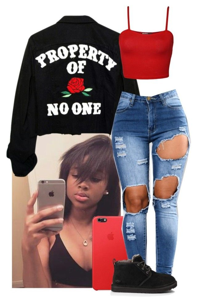 """property of: NO ONE"" by hellacurlz2000 ❤ liked on Polyvore featuring WearAll and UGG Australia"