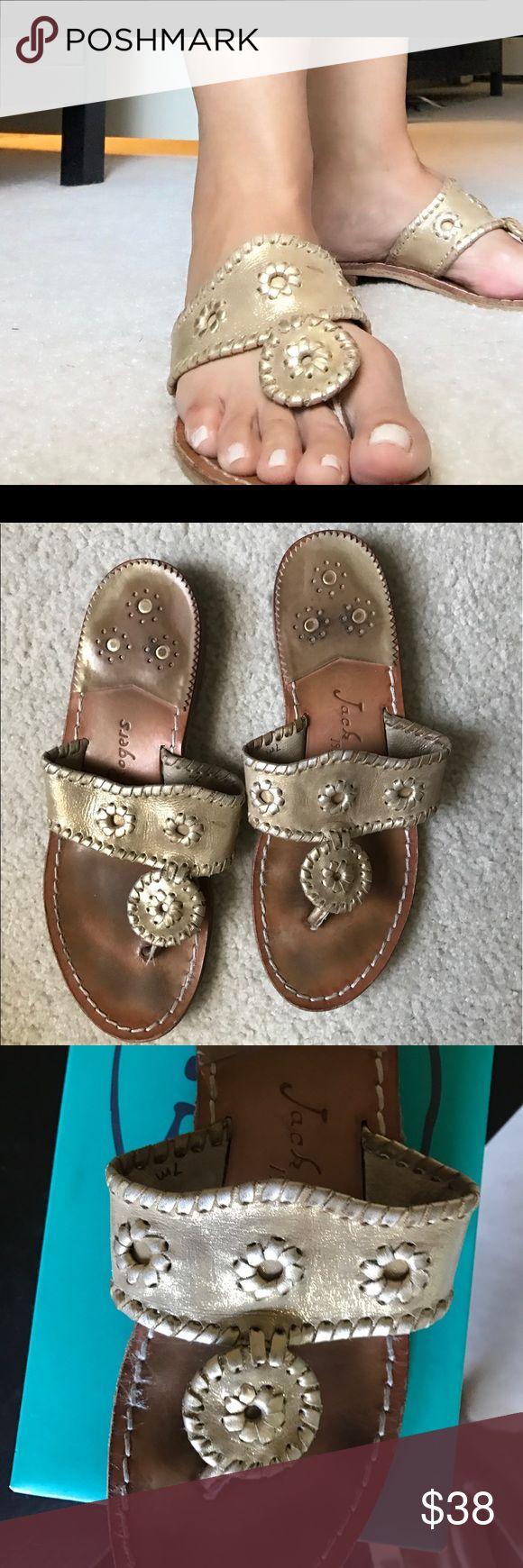 Jack Rodgers Stardust Sandals Loved Jack Rodgers Gold Size 7 Jack Rogers Shoes Sandals