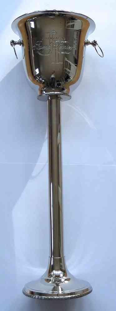 Champagnerkühler auf Standfuß mit Gravur (Silber)