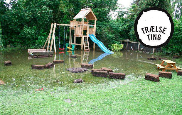 Hvad gør du, hvis vandet fra naboens grund forhindrer dine børn i at lege i haven?