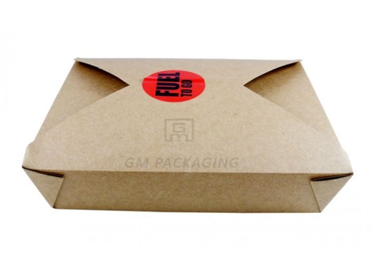 Brown Kraft Food Boxes-No.3.  Widely recyclable. Microwaveable. Grease proof. Stackable.