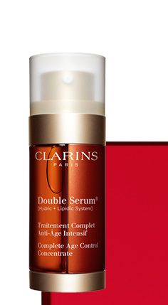 90% of women find Double Serum® more effective than their usual serum.* The must-have treatment for all women age 25 and older. *Satisfaction test, 126 women