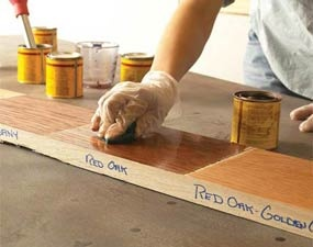 How to prepare your wood and apply stain or varnish for a silky smooth finish