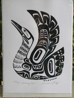 Loon Tribal Drawings Silk Screen Printing Loon Tattoo