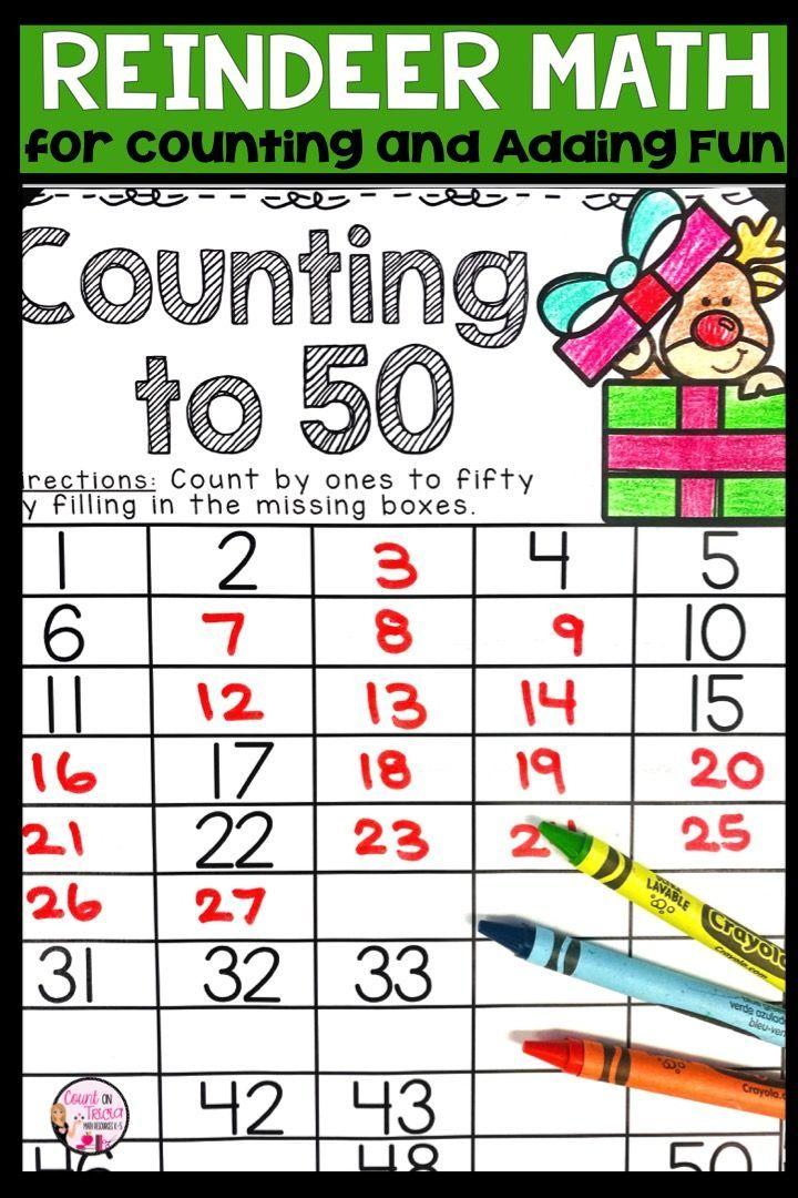 Reindeer Math Activities Kindergarten Math Worksheets Christmas Math Worksheets Kindergarten Christmas Math Worksheets