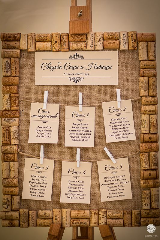 Seating chart wine theme wedding