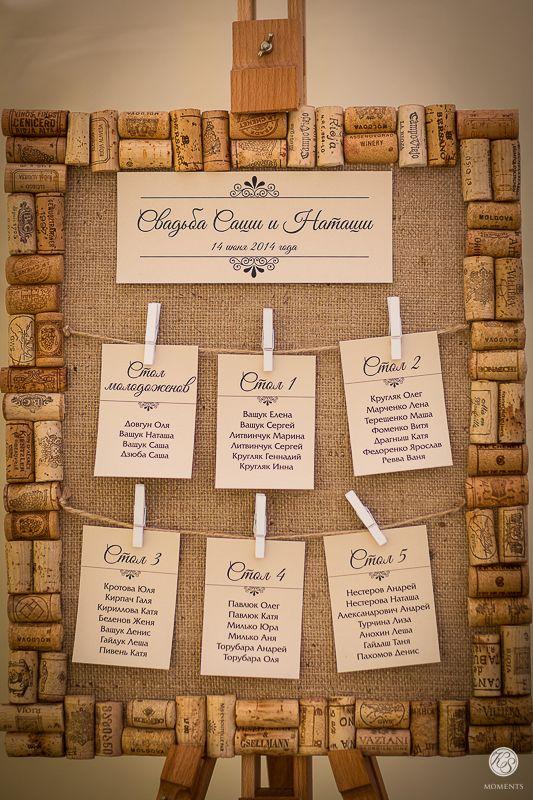 Seating chart wine theme wedding