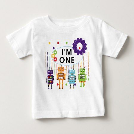 Robot First Birthday Tshirts and Gifts - click to get yours right now!