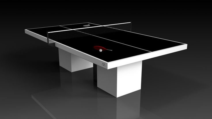 Trestle Table Tennis, White. The Trestle table can be customized in your choice of bespoke sizes, colors, and finishes. Upon request, we also offer the option to add slender drawers on each side in order to provide concealed storage for table tennis paddles and ping pong balls.